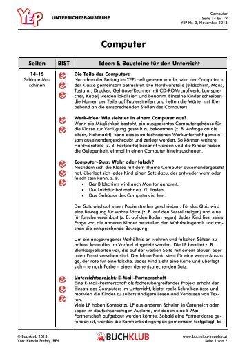 Unterrichtsbausteine: Computer (PDF 105 Kb)