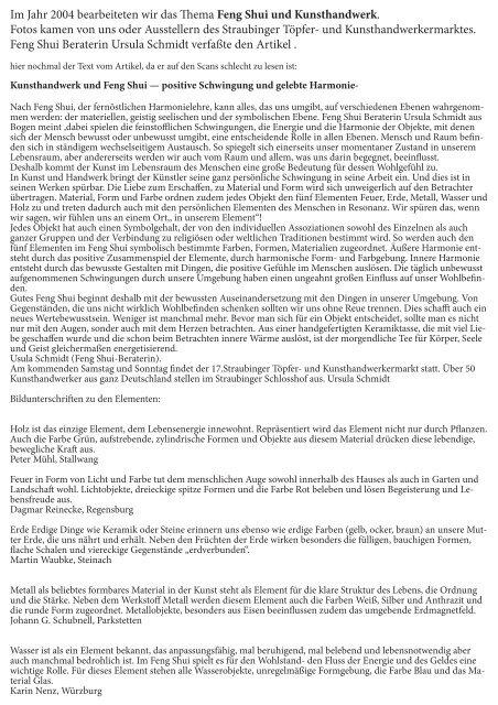 8 Artikel in 8 Jahren zum Thema Kunsthandwerk .