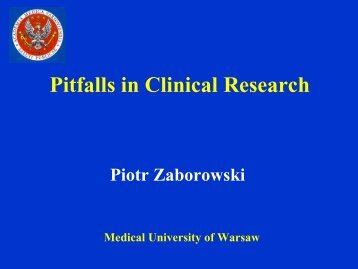Pitfalls in Clinical Research