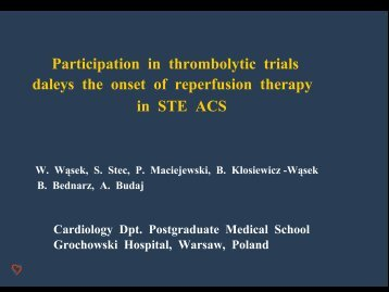 Participation in acute coronary trials and possible therapy delay