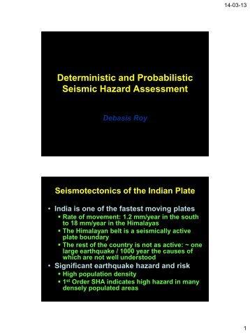 Seismic Hazard Analysis (DR)