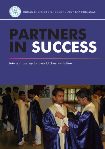 Join our journey to a world class institution - Indian Institute of ...