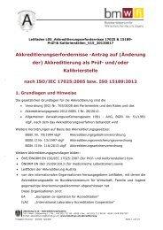 Leitfaden L05 Akkreditierungserfordernisse 17025 & 15189-Prüf