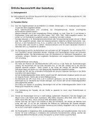 Örtliche Bauvorschriften und textliche Festsetzung