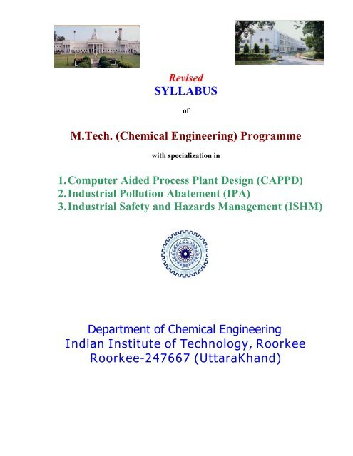 Syllabus M Tech Chemical Engineering Indian Institute Of
