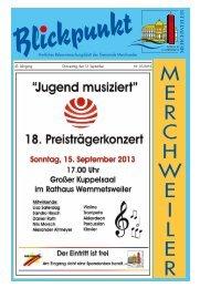 SC Wemmetsweiler 1 - Gemeinde Merchweiler