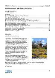 IBM Informix Newsletter - International Informix Users Group