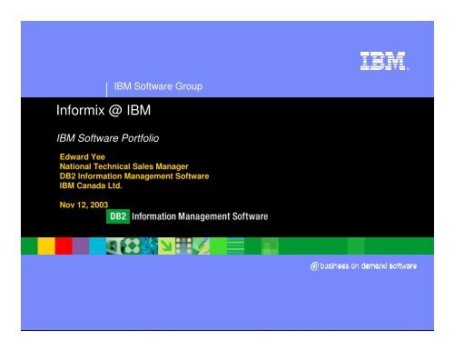 IBM and Informix software road...
