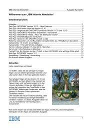 Informix Newsletter 04/2013 - The Informix Zone