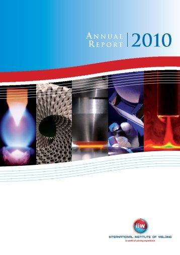 ANNUAL REPORT 2010.pdf - IIW