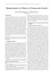 Biomechanics at Macro to Nano-scale Levels - ijabme.org