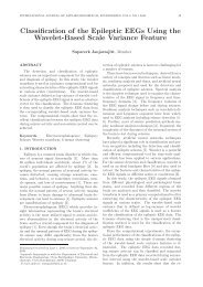 Classification of the Epileptic EEGs Using the Wavelet ... - ijabme.org
