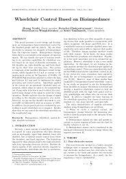 Wheelchair Control Based on Bioimpedance - ijabme.org