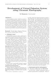 Development of Virtual Palpation System using ... - ijabme.org