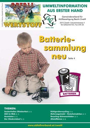 Batterie- sammlung neu Batterie- sammlung
