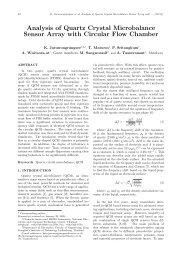 Analysis of Quartz Crystal Microbalance Sensor Array ... - ijabme.org