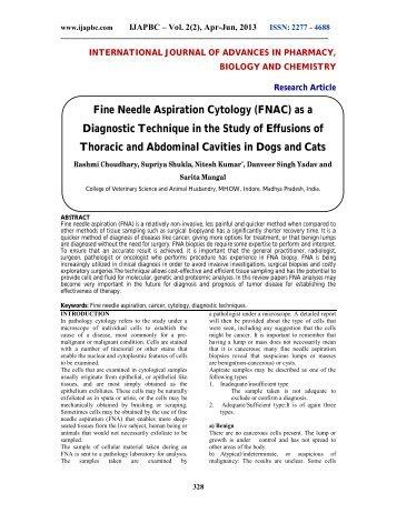 Fine Needle Aspiration Cytology (FNAC) as a Diagnostic ... - ijapbc