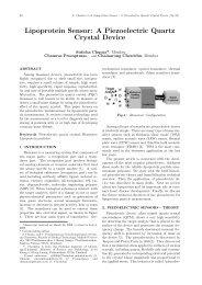 Lipoprotein Sensor: A Piezoelectric Quartz Crystal Device - ijabme.org