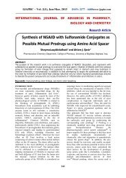 Synthesis of NSAID with Sulfonamide Conjugates as ... - ijapbc