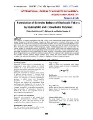 Formulation of Extended Release of Etoricoxib Tablets by ... - ijapbc