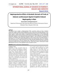 Nephroprotective Effect of Alcoholic Extracts of Fruits of ... - ijapbc