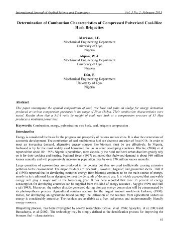 Determination of Combustion Characteristics of Compressed ...