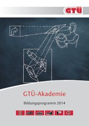 GTÜ Bildungsprogramm 2014