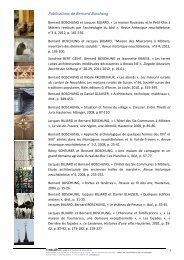 Publications de Bernard Boschung - Canton de Neuchâtel
