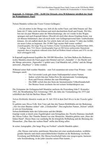 Paarl Nelson Mandela - Beuth Hochschule für Technik Berlin