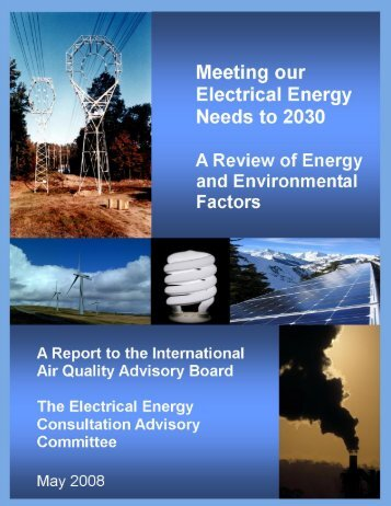 Meeting our Electrical Energy Needs to 2030