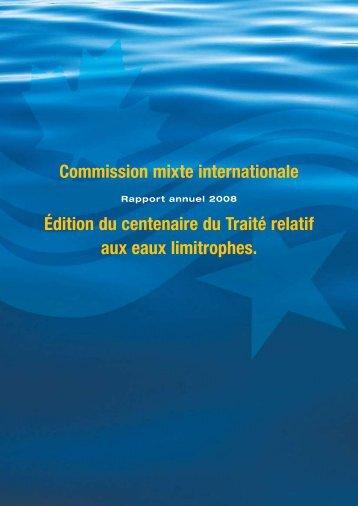 Édition du centenaire du Traité des eaux limitrophes - Commission ...