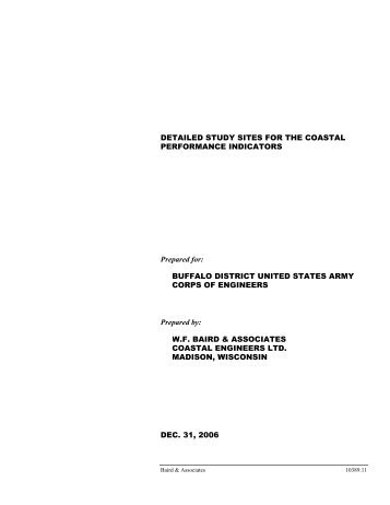 Baird, W.F. and Associates Coastal Engineering Ltd. Detailed Study ...
