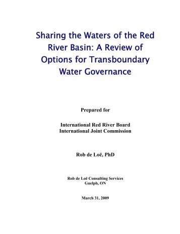 Sharing the Waters of the Red River Basin - International Joint ...