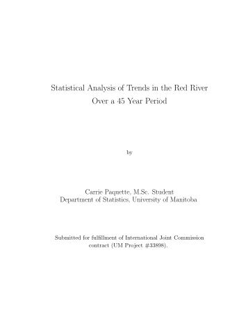 Statistical Analysis of Trends in the Red River Over a 45 Year Period