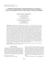 Predicting Wetland Plant Community Responses to ... - BioOne
