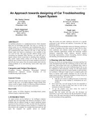 An Approach towards designing of Car Troubleshooting Expert System
