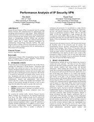 Performance Analysis of IP Security VPN - International Journal of ...