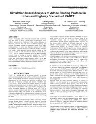 Simulation based Analysis of Adhoc Routing Protocol in Urban and ...