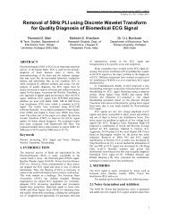 Removal of 50Hz PLI using Discrete Wavelet Transform for Quality ...