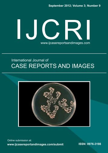 International Journal of Case Reports and Images (IJCRI)