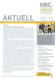hbc aktuell 2/13 - Hochschule Biberach