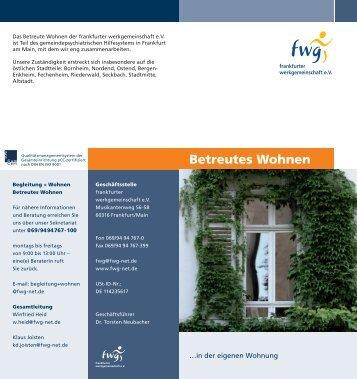 Betreutes Wohnen - frankfurter werkgemeinschaft eV