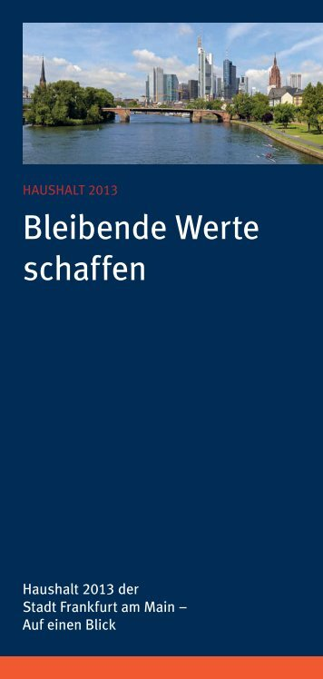 Broschüre zum Produkthaushalt 2013 - Frankfurt am Main