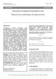 Aneurysm of superior mesenteric vein - International Journal of ...