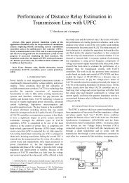 Performance of Distance Relay Estimation in Transmission Line - ijcee