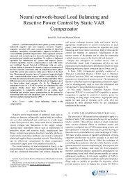 Neural network-based Load Balancing and Reactive Power ... - ijcee