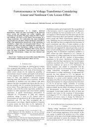 Ferroresonance in Voltage Transformer Considering Linear ... - ijcee