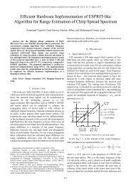 Efficient Hardware Implementation of ESPRIT-like Algorithm for - ijcee
