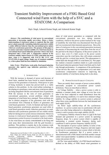 Transient Stability Improvement of a FSIG Based Grid ... - ijcee