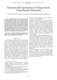 Detection and Classification of Voltage Swells Using Wavelet ... - ijcee